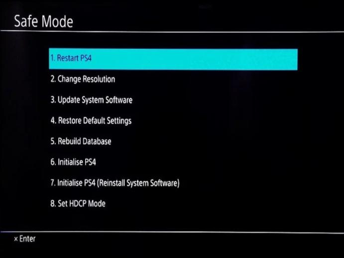 PS4 Safe Mode